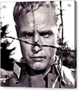 Marlon Brando As Lt. Diestl Publicity Photo The Young Lions 1958 Color Added 2016 Acrylic Print