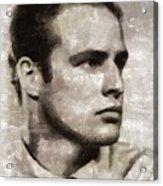 Marlon Brando, Vintage Actor Acrylic Print