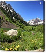 Maroon Bells In Summer 2 Acrylic Print