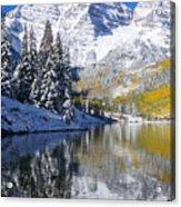 Maroon Lake And Bells 2 Acrylic Print