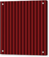 Maroon Red Striped Pattern Design Acrylic Print