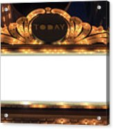 Marquee Lights Blank Sign Acrylic Print