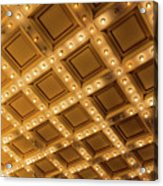 Marquee Lights On Theater Ceiling Acrylic Print