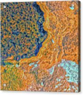 Mars Abstract Acrylic Print