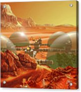 Mars Colony Acrylic Print by Don Dixon