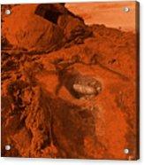 Mars Landscape Acrylic Print