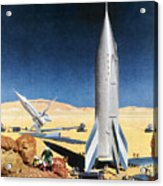 Mars Mission, 1950s Acrylic Print