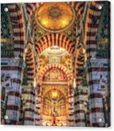 Marseille, France, Inside Of Notre-dame De La Garde Catholic Basilica Acrylic Print