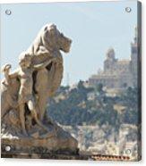 Marseille-saint-charles Statue, France Acrylic Print