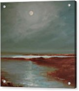 Marsh Moon.12x16.oil Acrylic Print
