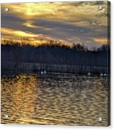 Marsh Ripple Pond Acrylic Print