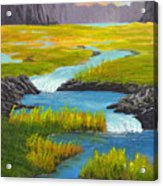 Marsh River Original Painting Acrylic Print