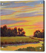 Marsh Sunrise Acrylic Print