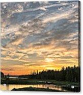 Marsh Sunset Acrylic Print
