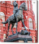 Marshal Georgy Konstantinovich Zhukov Statue Acrylic Print