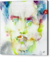 Marshall Mcluhan - Watercolor Portrait Acrylic Print