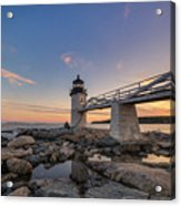 Marshall Point Lighthouse Reflections Acrylic Print