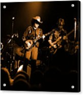 Marshall Tucker Winterland 1975 #12 Enhanced In Amber Acrylic Print