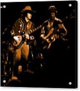 Marshall Tucker Winterland 1975 #17 Enhanced In Amber Acrylic Print