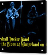 Marshall Tucker Winterland 1975 #18 Enhanced In Blue With Text Acrylic Print