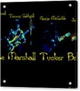 Marshall Tucker Winterland 1975 #19 Enhanced In Cosmicolors With Text Acrylic Print