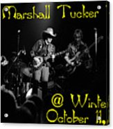 Marshall Tucker Winterland 1975 #3 Crop 2 With Text Acrylic Print