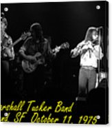 Marshall Tucker Winterland 1975 #37 Crop 2 With Text Acrylic Print