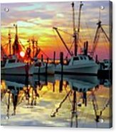 Marshallberg Harbor Sunset Acrylic Print