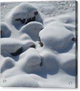 Marshmallow Rocks Acrylic Print