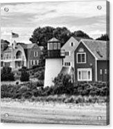 Hyannis Lighthouse Bw Acrylic Print