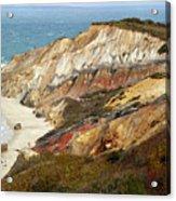 Marthas Vinyard Ocean Cliff Acrylic Print