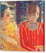 marthe in red blouse c1928 Pierre Bonnard Acrylic Print