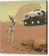 Martian Exploration Acrylic Print