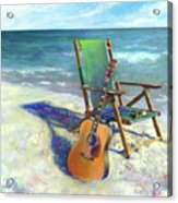Martin Goes To The Beach Acrylic Print by Andrew King