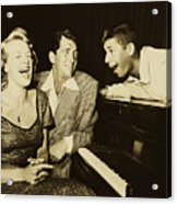 Martin, Lewis, And Clooney Acrylic Print