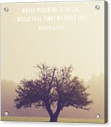 Martin Luther Apple Tree Quote Acrylic Print