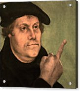 Martin Luther  Finger Acrylic Print