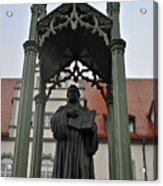 Martin Luther In Market Square Acrylic Print