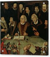 Martin Luther In The Circle Of Reformers Acrylic Print