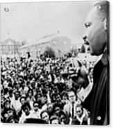 Martin Luther King Addresses Selma Acrylic Print by Everett