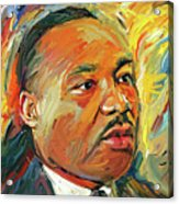 Martin Luther King Portrait 1 Acrylic Print