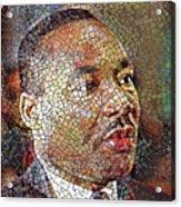 Martin Luther King Portrait Mosaic 1 Acrylic Print