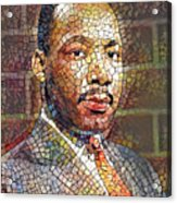 Martin Luther King Portrait Mosaic 2 Acrylic Print