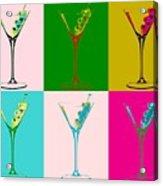 Martini Pop Art Panels Acrylic Print