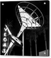 Martini Sign In Vegas B-w Acrylic Print