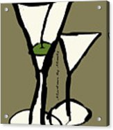 Martini With Green Background Acrylic Print