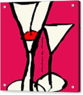 Martini With Pink Background Acrylic Print