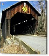 Martinsville Covered Bridge- Hartland Vermont Usa Acrylic Print