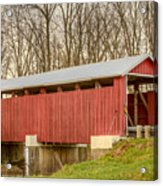 Martinsville Covered Bridge Acrylic Print