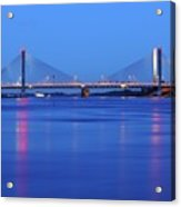 Martinus Nijhoff Bridge Over The Waal River Near Zaltbommel Acrylic Print